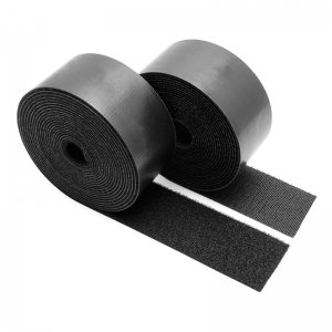 Black Strong Sticky Self Adhesive Stickers China Manufacturer Provide Peel Nylon width Stick Hook And Loop
