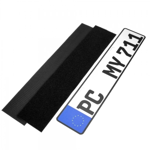 Car license plate holder hook and loop tape self adhesive number plate holder magic tape fastener