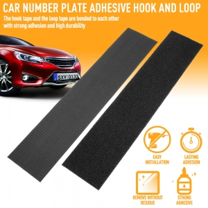 Germany hot selling number plate holder adhesive hook and loop tape license plate stickers for cars