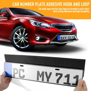 Number Plate Fixing Pads Adhesive Magic Tape Stickers for Car License Plate Mounting Sticky Pads
