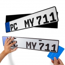 China Car License plate Mounting Adhesive Magic Tape Hook and Loop Number Plate Sticky Pads company