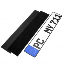 China Car license plate holder hook and loop tape self adhesive number plate holder magic tape fastener company