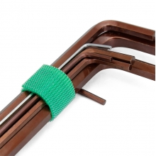 China Colorful nylon cable tie hook and loop cable ties wire and cable management strip factory