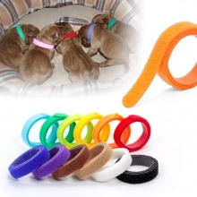 China Dog id collars hook loop pet bow tie collar nylon hook loop identification cable ties factory