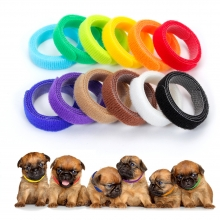 China Customized package dog ID collar strap adjustable 100% nylon hook and loop factory