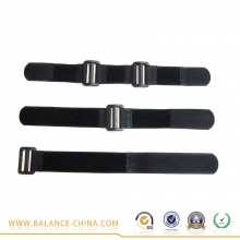 China Heavy duty elastic hook and loop strap with buckle factory