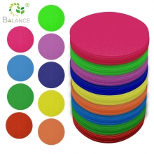 China Sit Marker Carpet Spots Classroom Hook and Loop Circles Kid Sitting Dots Colorful Circles Carpet Markers factory